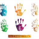 Grunge Hand Print Vector (EPS, SVG)