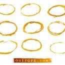 Grunge Oval Circle Vector (EPS, SVG)