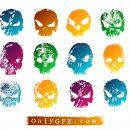 Grunge Skull Vector (EPS, SVG)