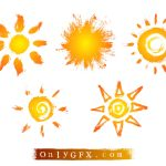 Grunge Sun Vector (EPS, SVG)