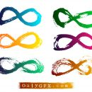 Grunge Infinity Symbol Vector (EPS, SVG)