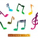 Grunge Music Note Vector (EPS, SVG)