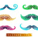 Mustache Drawings Vector (EPS, SVG)
