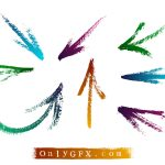Grunge Brush Stroke Arrow Vector (EPS, SVG)