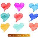 Heart Watercolor Vector (EPS, SVG)