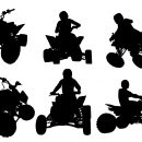 Atv Quad Bike Silhouette (PNG Transparent)