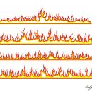 Cartoon Fire Border Line Vector (EPS, SVG, PNG Transparent)
