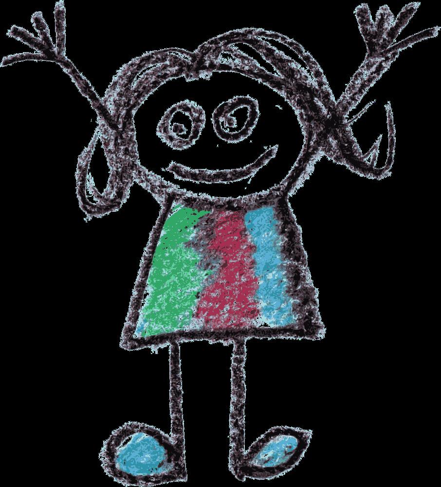 Crayon Doodle Happy Kids Drawing Png Transparent Onlygfx Com