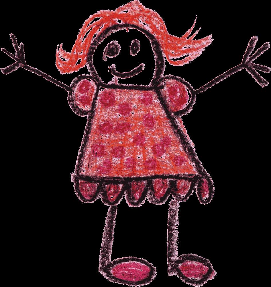 Crayon Doodle Happy Kids Drawing (PNG Transparent ...