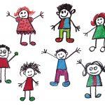 Crayon Doodle Happy Kids Drawing (PNG Transparent)