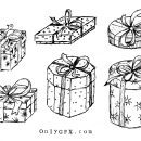 Gift Box Present Drawing Vector (EPS, SVG, PNG Transparent)