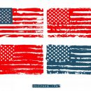 Grunge American Flag Vector (EPS, SVG, PNG Transparent)