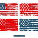 Grunge American Flag Vector (EPS, SVG, PNG Transparent)