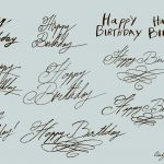 Happy Birthday Handwritten Calligraphy Vector (EPS, SVG, PNG Transparent)