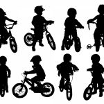 Kid On Bike Silhouette (PNG Transparent)