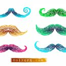 Mustache Drawing Vector (EPS, SVG, PNG Transparent)