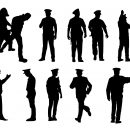 Police Officer Silhouette (PNG Transparent)