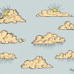 Vintage Cloud Drawing Vector (EPS, SVG, PNG Transparent)