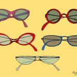 Vintage Eye Glasses Drawing Vector (EPS, SVG, PNG Transparent)
