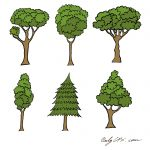 Cartoon Tree Vector (EPS, SVG, PNG Transparent)