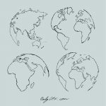Earth Drawing Doodle Vector (EPS, SVG, PNG Transparent)