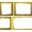 Gold Glitter Frame (PNG Transparent)