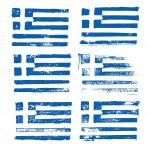 Grunge Flag of Greece (PNG Transparent)