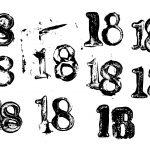 Grunge Number 18 (PNG Transparent)