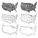 Map of USA Drawing (PNG Transparent)