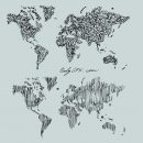 World Map Scribble Doodle Drawing Vector (EPS, SVG, PNG Transparent)