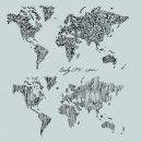 World Map Scribble Doodle Drawing Vector (EPS, SVG, PNG Transparent)