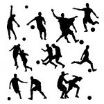 Football Soccer Silhouette (PNG Transparent)