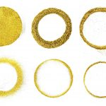 Gold Glitter Circle Round Background (JPG)
