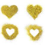 Gold Glitter Heart Background (JPG)
