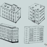 Building Drawing Vector (EPS, SVG, PNG Transparent)