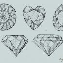Diamond Drawing Vector (EPS, SVG, PNG Transparent)