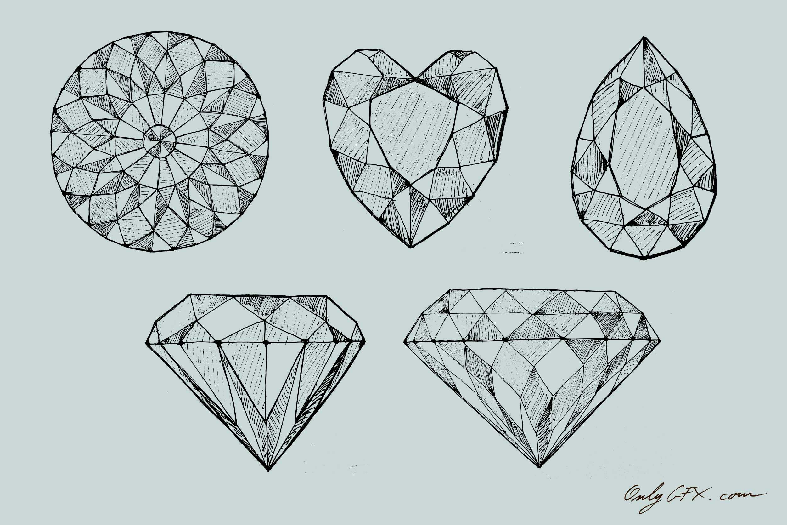 diamond drawing vector eps svg png transparent onlygfx com diamond drawing vector eps svg png