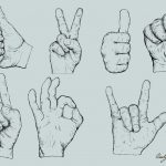 Hand Drawn Hand Gestures Vector (EPS, SVG, PNG Transparent)