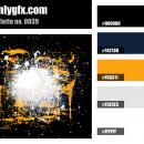 Black Orange White Color Palette