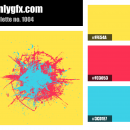 Cartoon Yellow Blue Red Color Palette