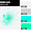 Green Blue Glow Color Palette