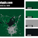 Green Circuitboard Color Palette