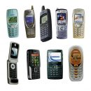 Old Mobile Phones (PNG Transparent)