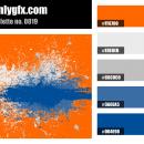 Orange Blue Color Palette