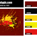 Pollock Brown Yellow Red Black Color Palette
