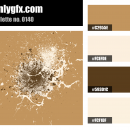Vintage Brown White Color Palette