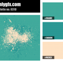 Turquoise White Color Palette