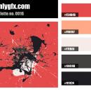 Vintage Black White Red Color Palette