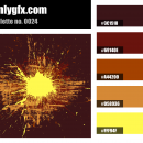 Vintage Brown Yellow Color Palette