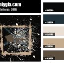 Vintage Dark Brown Black Color Palette